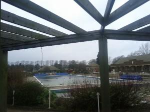 Hitchin swimming pool, Hertfordshire, England