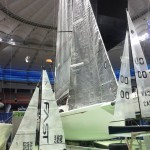 Sailboat display at the Stadium