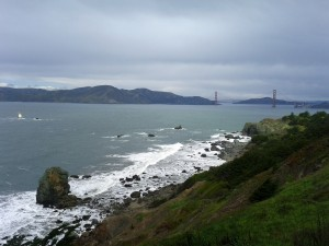 View of Golden Gate Bridge, from Lincoln Park