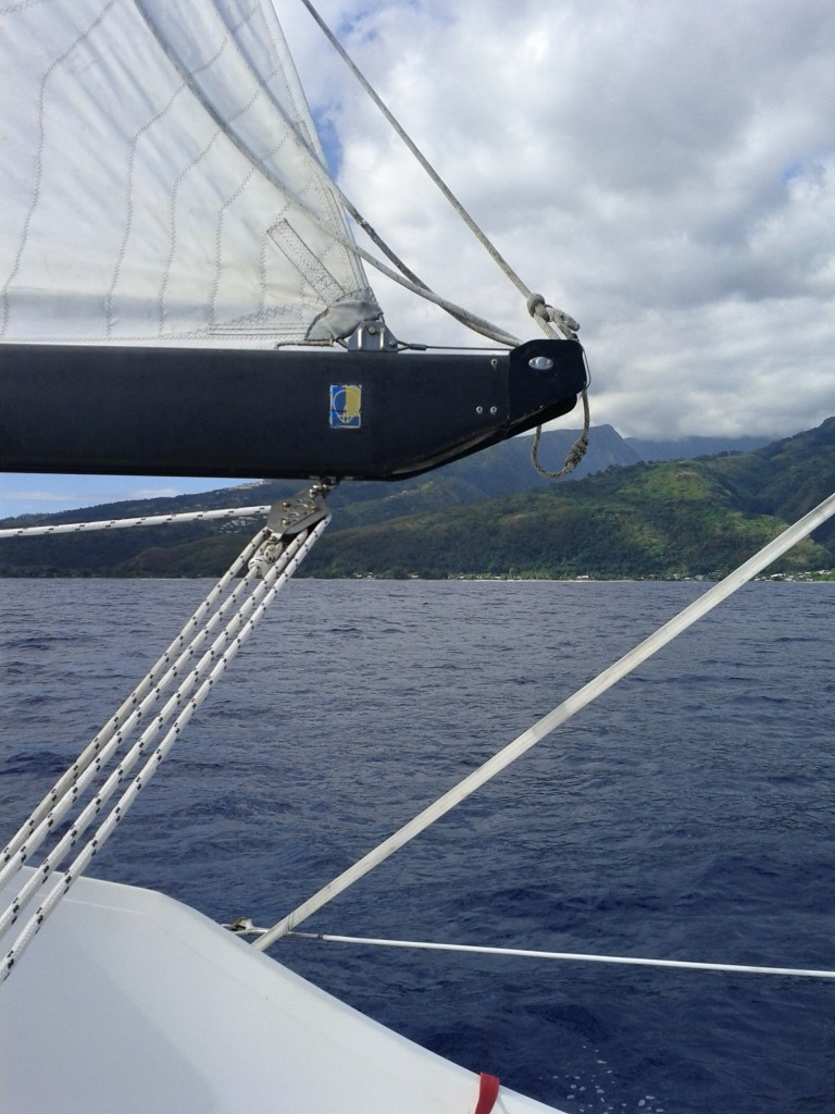 Arriving in Tahiti, without an engine...
