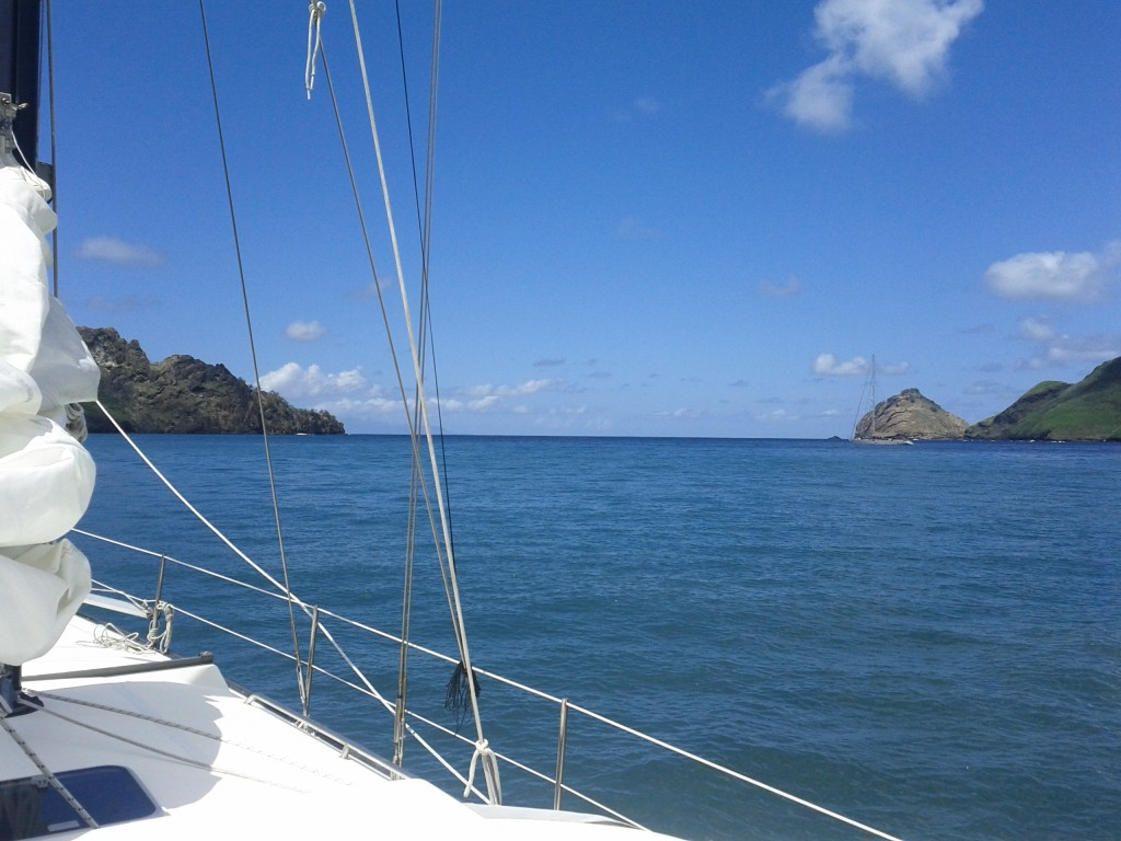 Route out of current bay, soon to be sailed, without an engine....