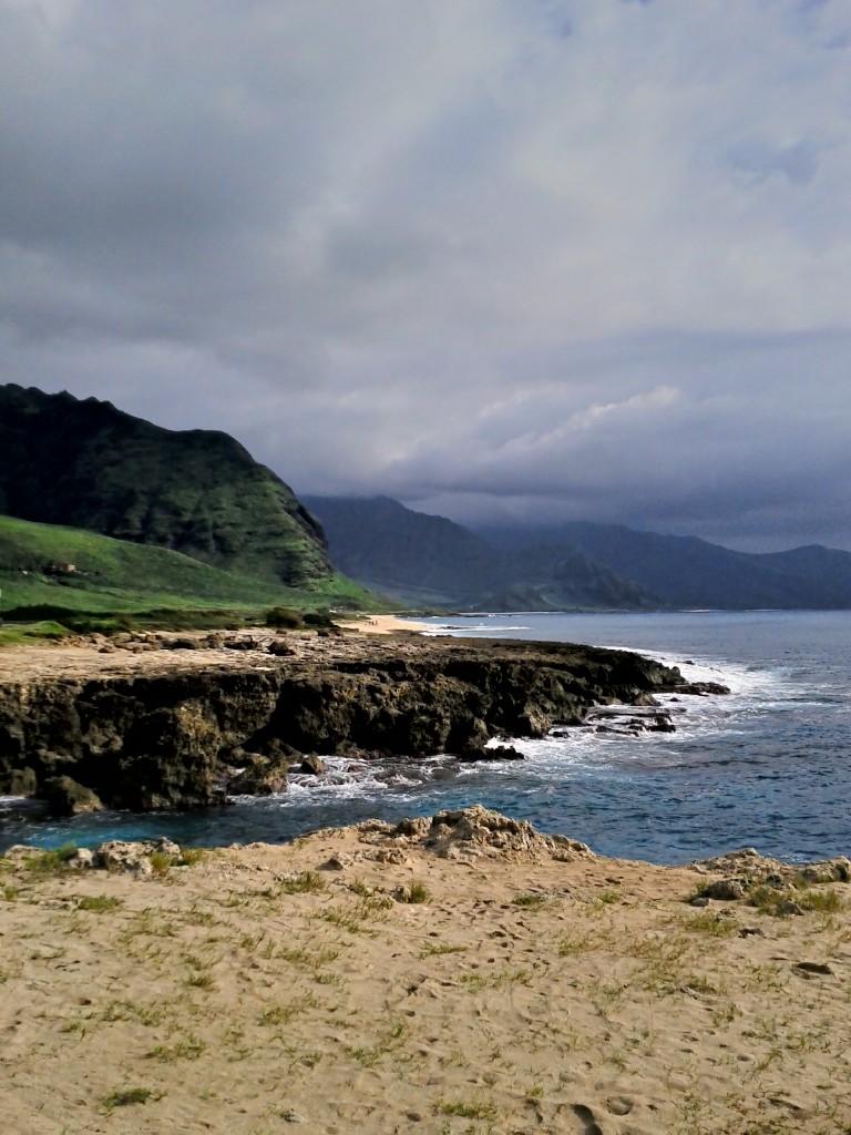 The far northwest corner of Oahu