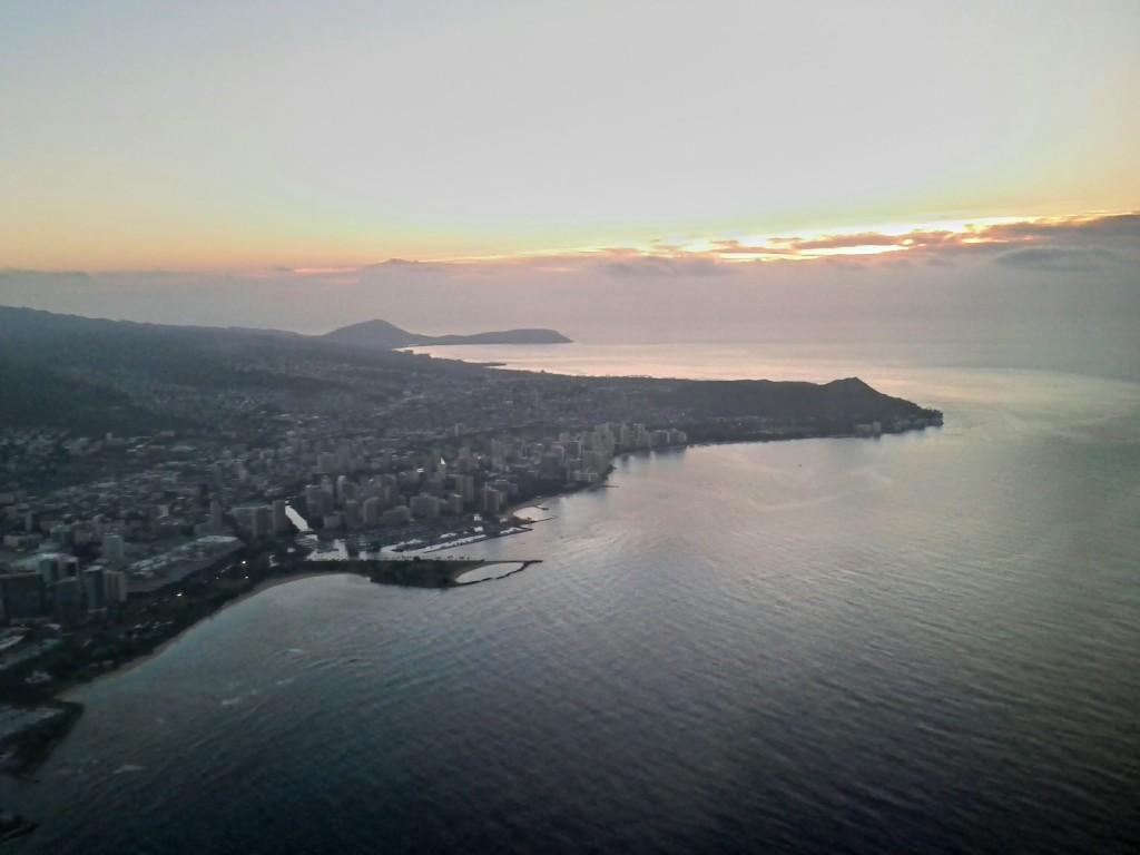 Last look at Waikiki and Diamond Head, until the next visit