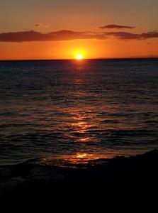 Sunset on last evening