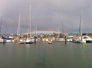 Rainbow before we left