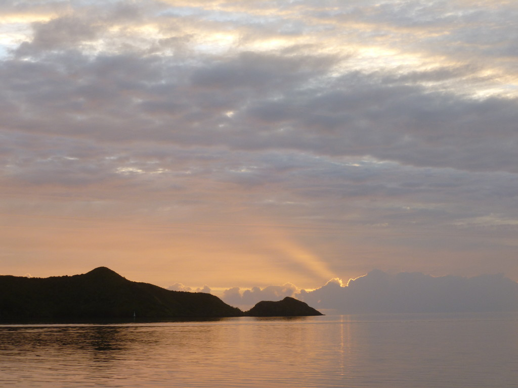 A brief moment of calm seas, at anchor in Rapa Iti (Austral Islands)